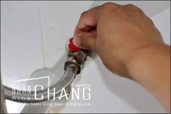 ปิดวาล์วหยุดน้ำ stop valve