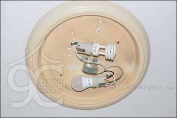 เปลี่ยนโคมไฟนีออนหลอดกลม เป็นขั้วหลอดไฟเกลียว E27